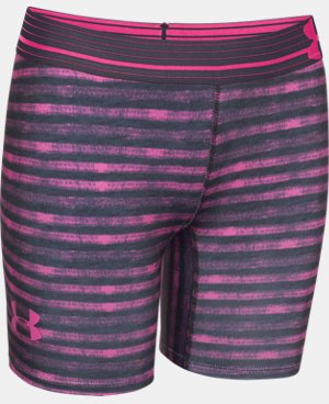 "Girls' UA HeatGear® Armour 5"" Printed Short LIMITED TIME: FREE U.S. SHIPPING 4 Colors $14.24"