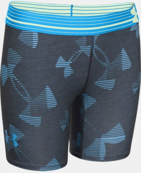 "Girls' UA HeatGear® Armour 5"" Printed Short  3 Colors $14.99"
