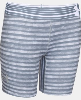 "Girls' UA HeatGear® Armour 5"" Printed Short   $14.99"