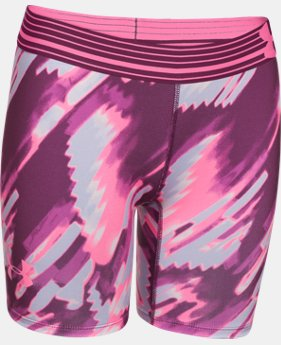 "Girls' UA HeatGear® Armour 5"" Printed Short LIMITED TIME: FREE U.S. SHIPPING 1 Color $11.24 to $14.24"