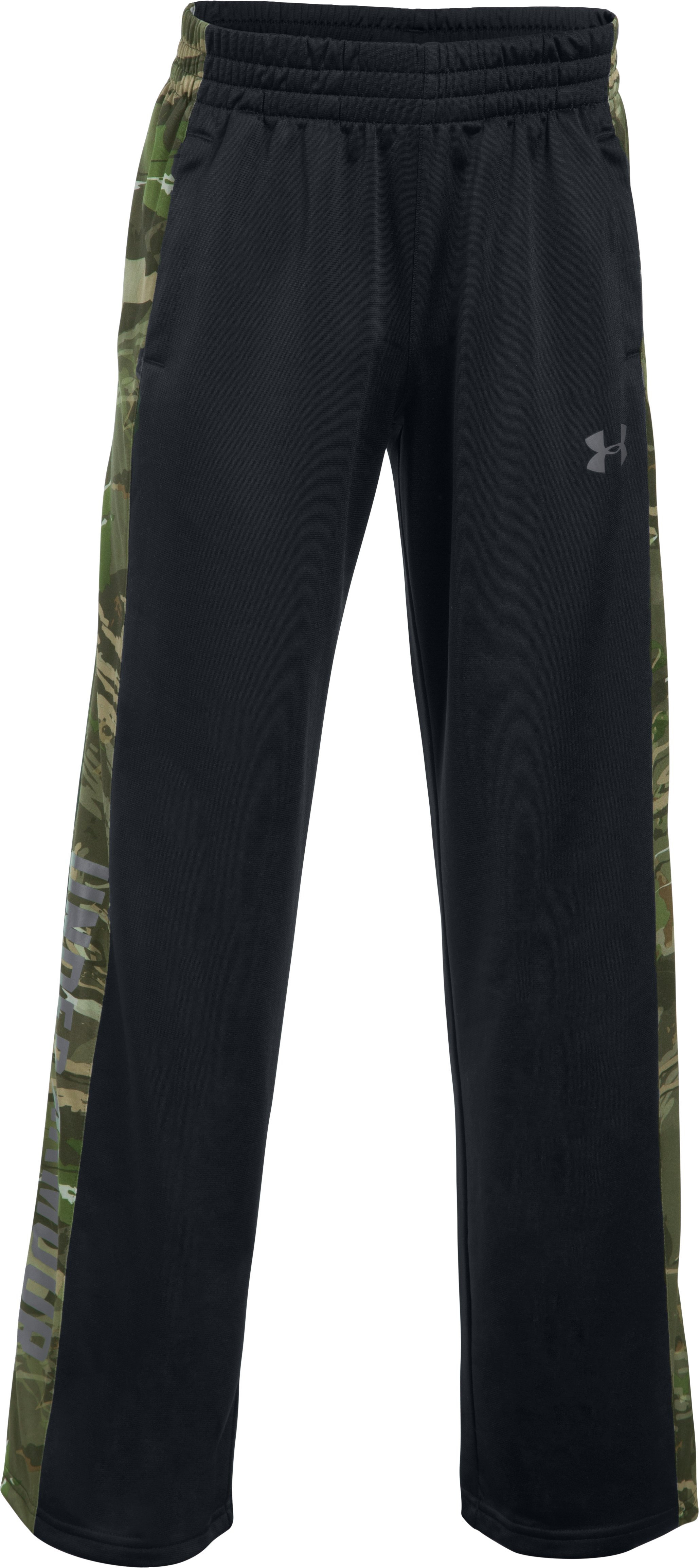 Boys' UA Outdoor Brawler Pants, Black , undefined