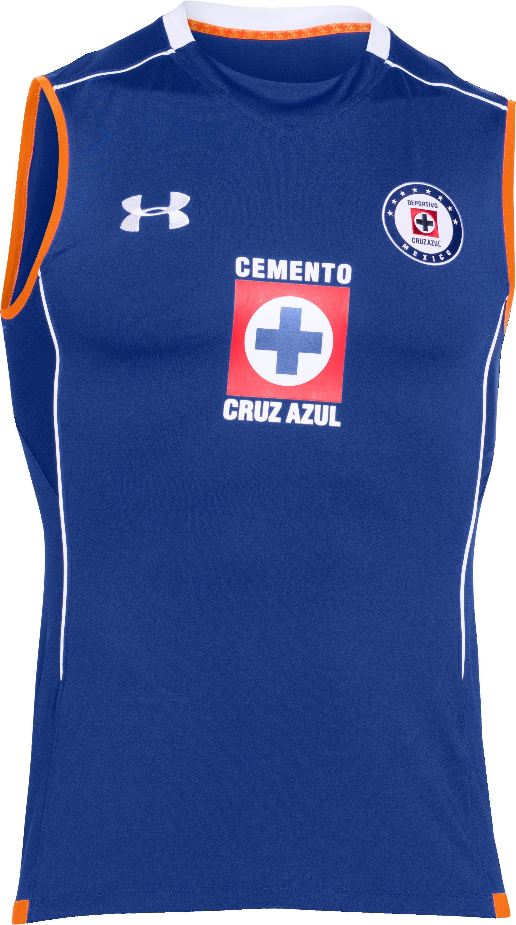 Men's Cruz Azul 15/16 Training Sleeveless Shirt, Royal,