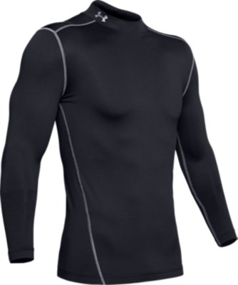 Red Large Under Armour Men/'s UA ColdGear Armour Compression Mock Top New
