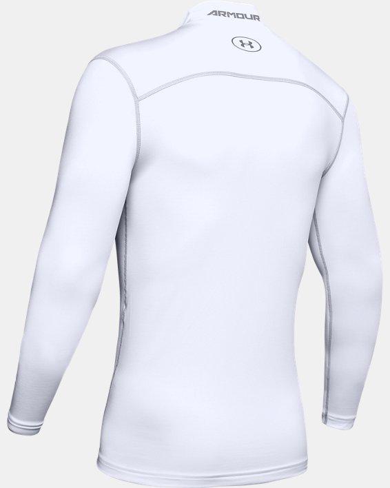 Men's UA ColdGear® Armour Compression Mock, White, pdpMainDesktop image number 9