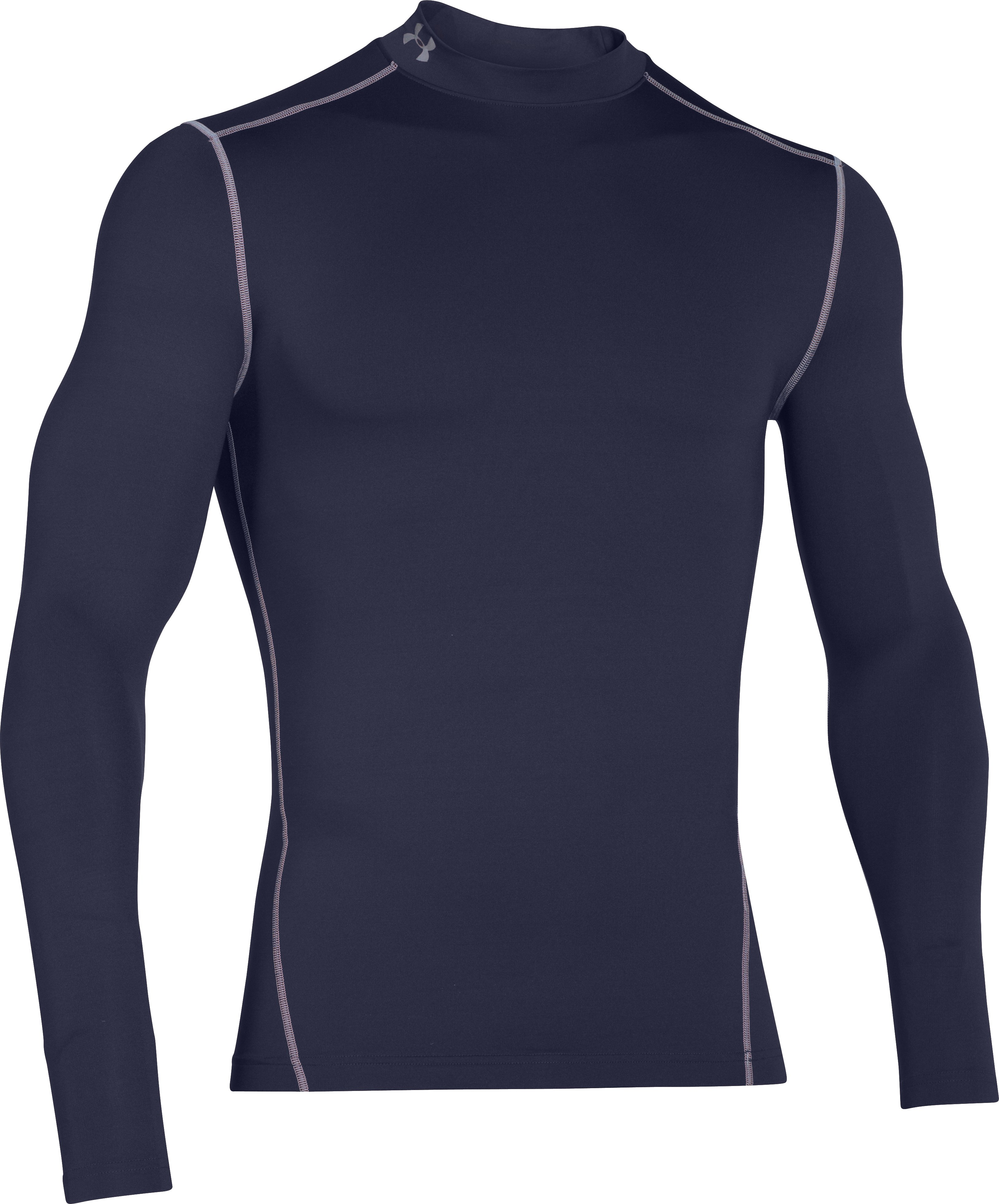 Men's UA ColdGear® Armour Compression Mock, Midnight Navy