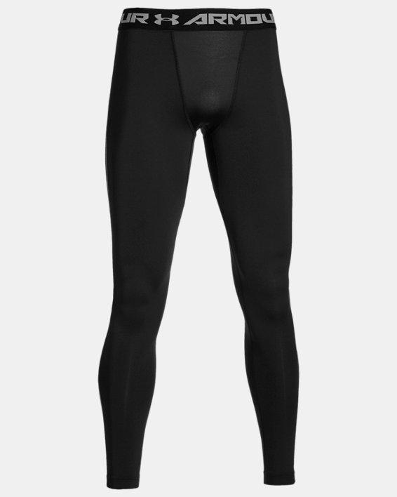 Men's UA ColdGear® Armour Compression Leggings, Black, pdpMainDesktop image number 4