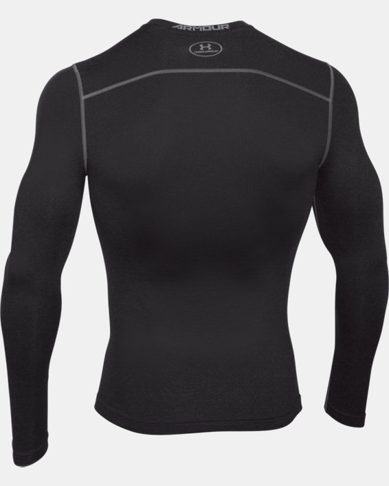 Men's UA ColdGear® Armour Compression Crew, Black, pdpMainDesktop image number 4