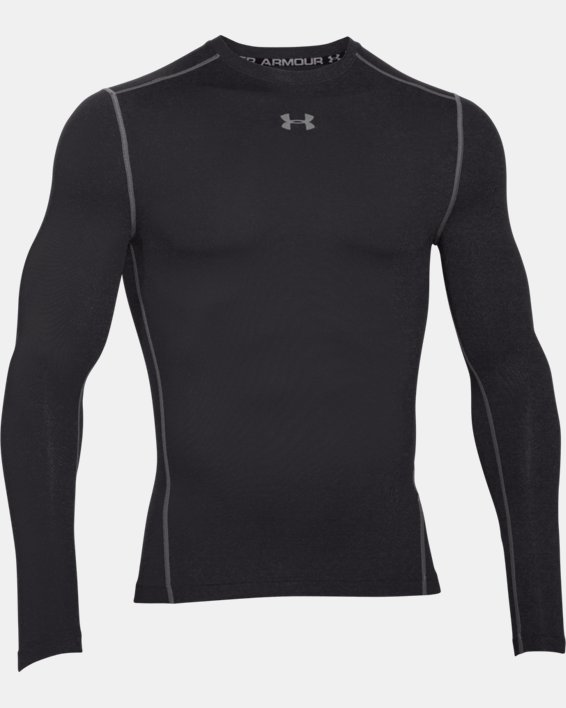 Men's UA ColdGear® Armour Compression Crew, Black, pdpMainDesktop image number 3