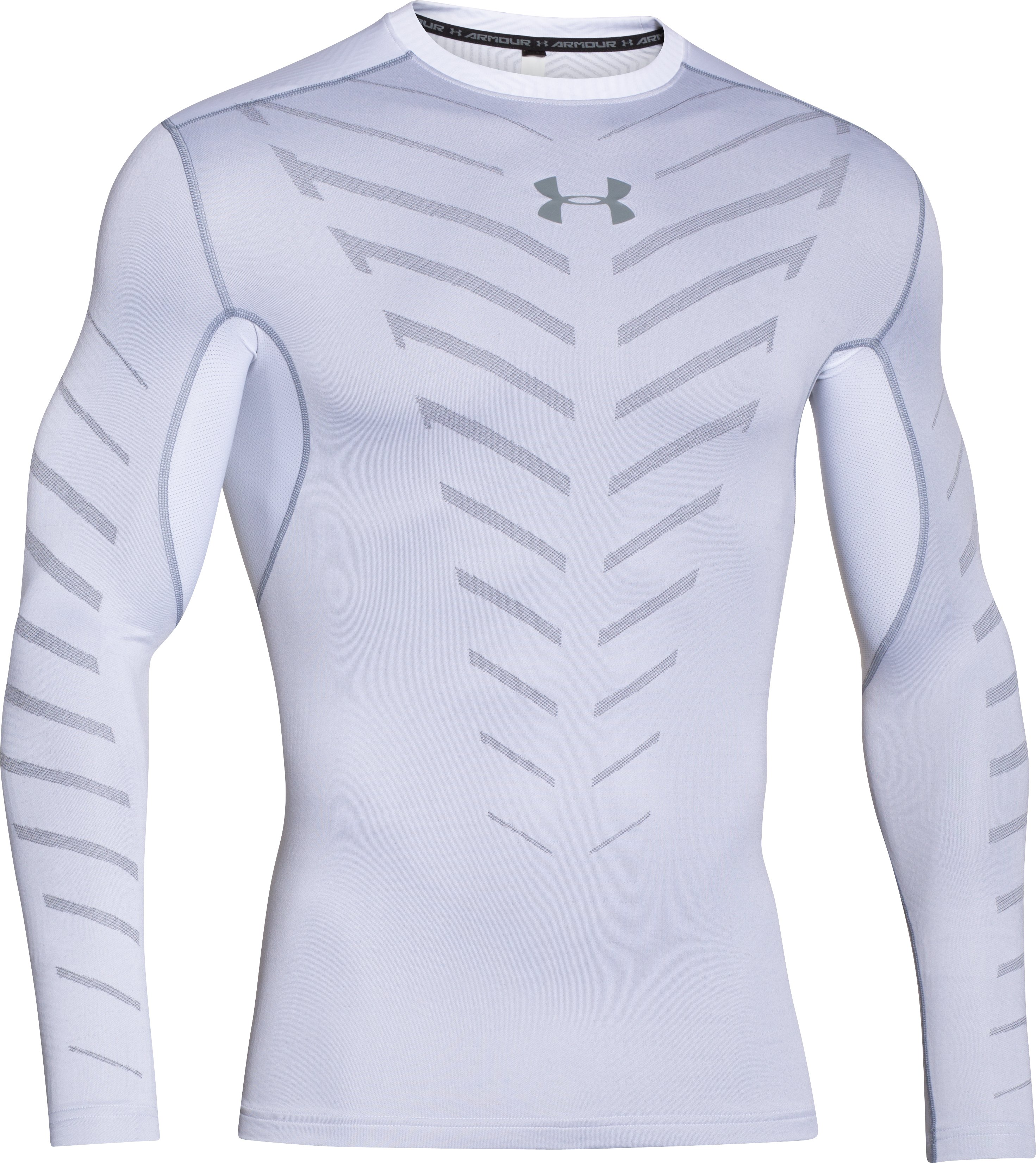 Men's UA ColdGear® Infrared Armour Compression Crew, White, undefined