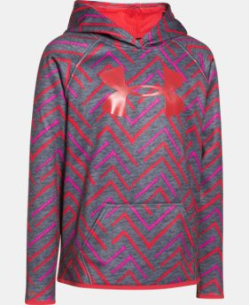Girls' UA Armour® Fleece Printed Big Logo Hoodie   $29.99 to $37.99