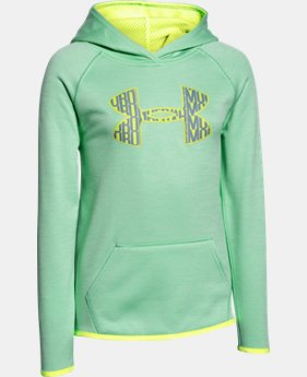 Girls' UA Armour® Fleece Printed Big Logo Hoodie  1 Color $29.99 to $37.99