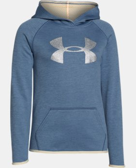 Girls' UA Armour® Fleece Printed Big Logo Hoodie  1 Color $44.99