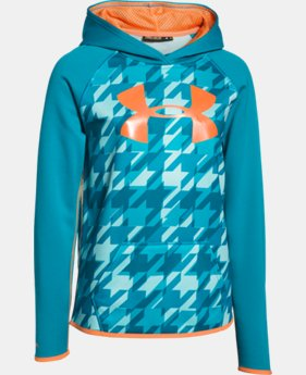 Girls' UA Armour® Fleece Printed Big Logo Hoodie   $37.99