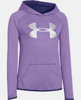 Girls' UA Armour® Fleece Printed Big Logo Hoodie  7 Colors $29.99 to $37.99