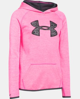 Best Seller Girls' UA Armour® Fleece Printed Big Logo Hoodie   $49.99
