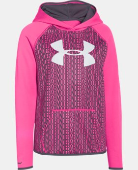 Girls' UA Armour® Fleece Printed Big Logo Hoodie  3 Colors $28.49