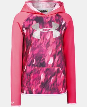 Girls' UA Armour® Fleece Printed Big Logo Hoodie   $28.49