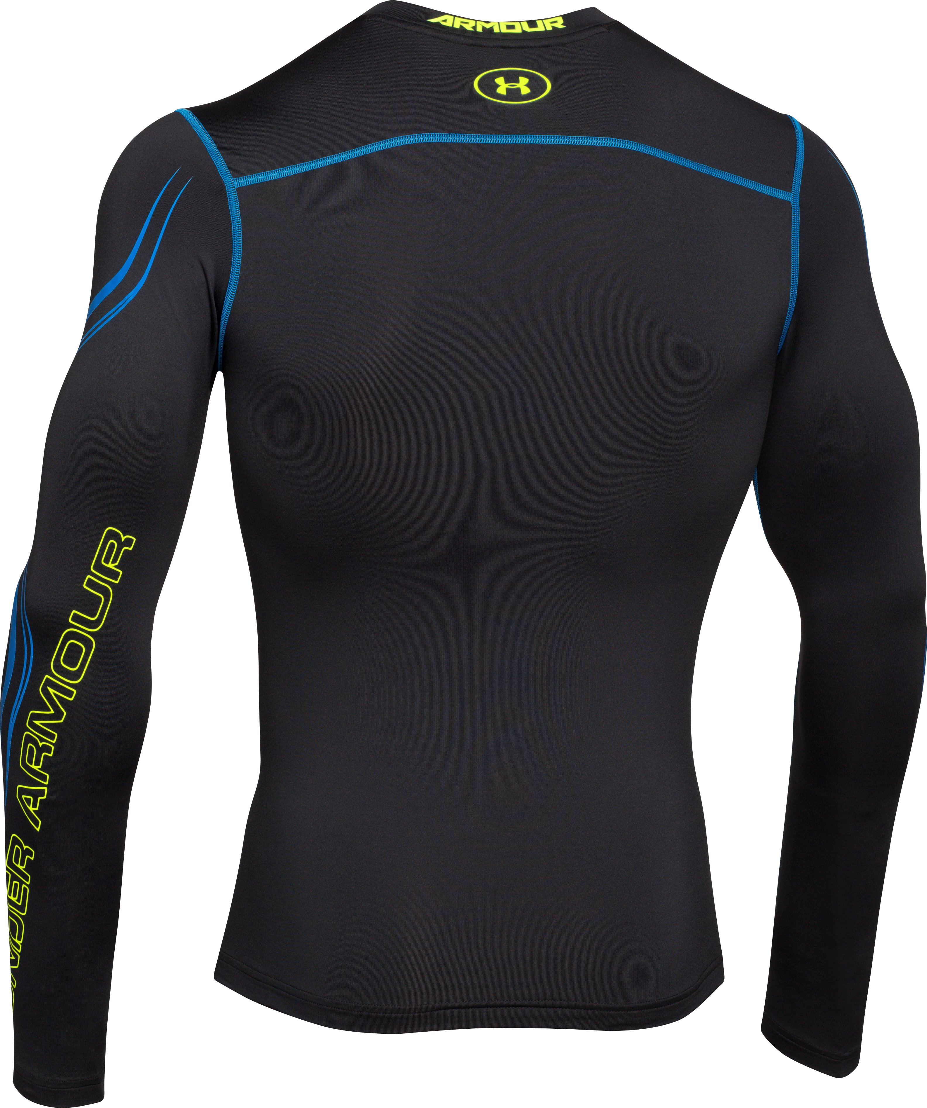 Men's UA ColdGear® Armour Graphic Compression Crew, Black