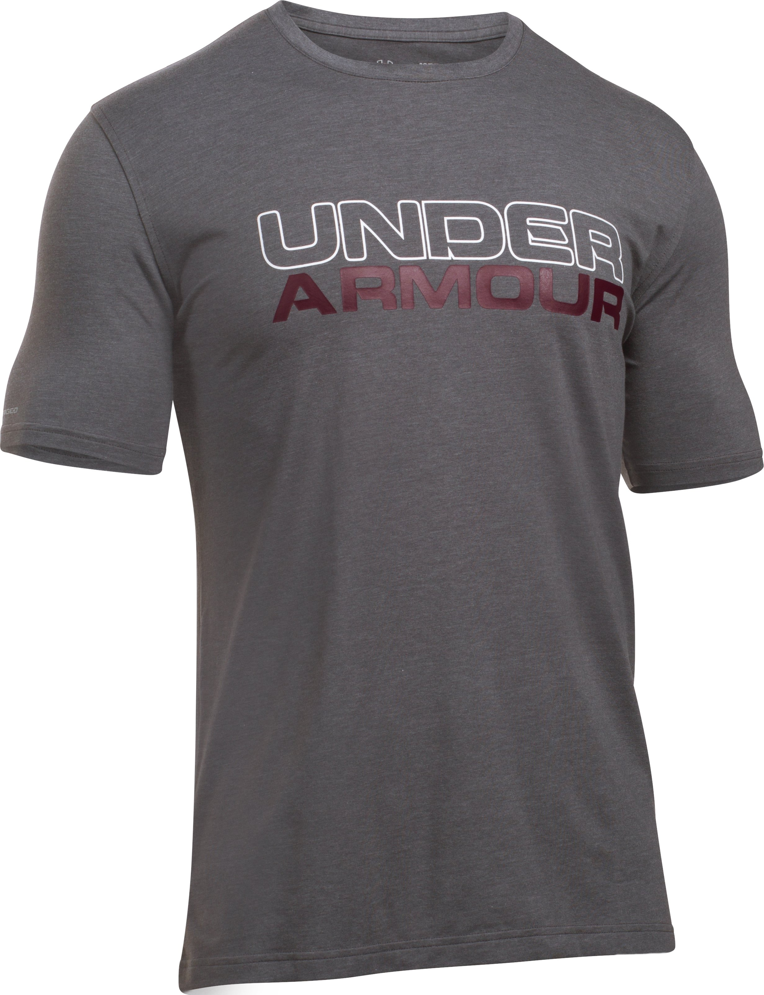 Men's UA Wordmark T-Shirt, Carbon Heather,