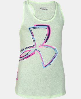 Best Seller Girls' UA Half-Time Logo Tank LIMITED TIME: FREE U.S. SHIPPING 1 Color $14.99