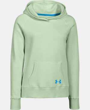 Girls' UA Rival Fleece Solid Hoodie LIMITED TIME: FREE U.S. SHIPPING 1 Color $29.99
