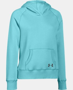 Girls' UA Rival Fleece Solid Hoodie  4 Colors $29.99