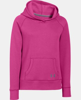 Girls' UA Rival Fleece Solid Hoodie  1 Color $22.49