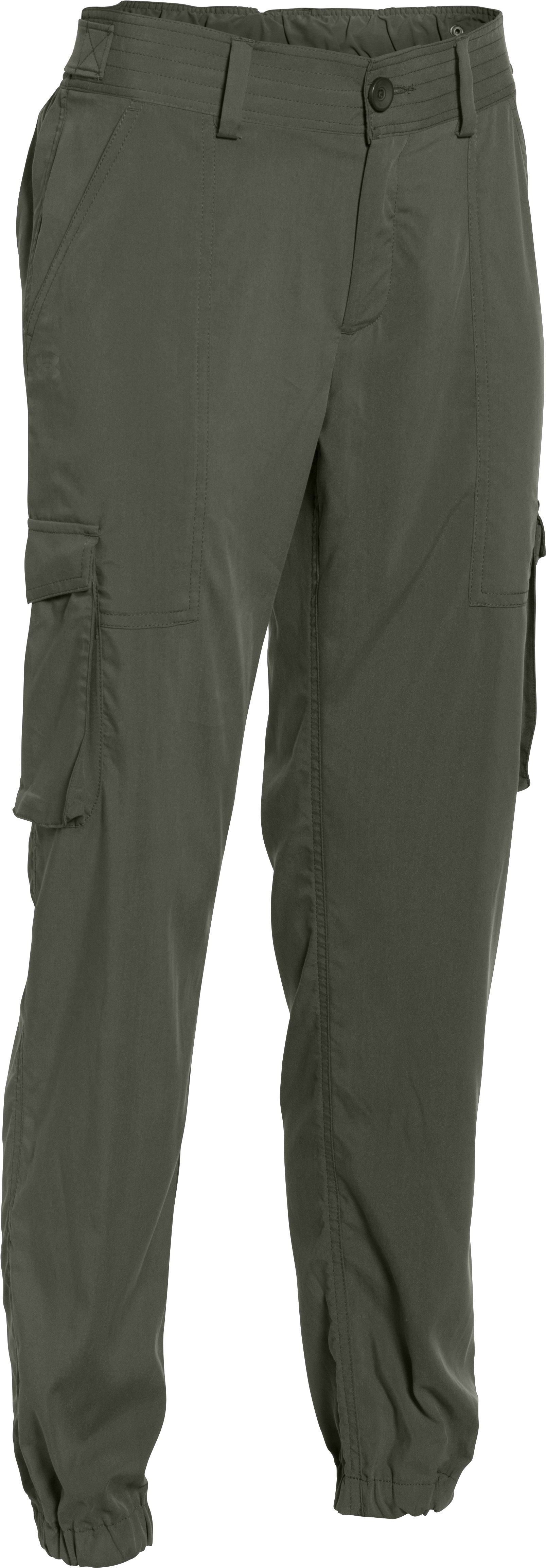 Women's UA Slim Air Woven Cargo Pants, DOWNTOWN GREEN, undefined