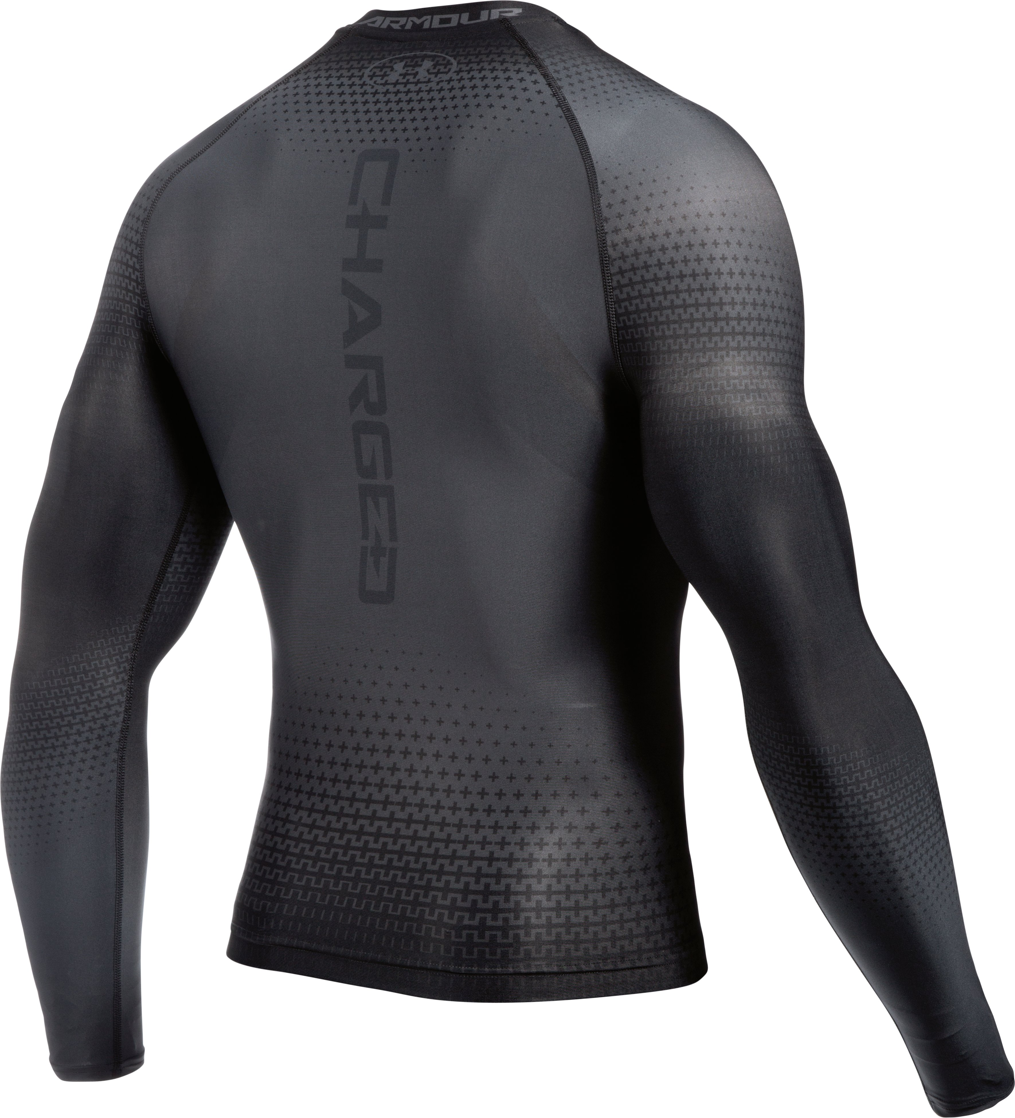 Men's UA Charged Compression Long Sleeve Shirt, Graphite,