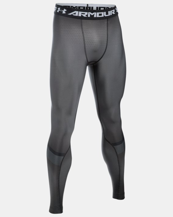 Men's UA Charged Compression Leggings, Gray, pdpMainDesktop image number 4