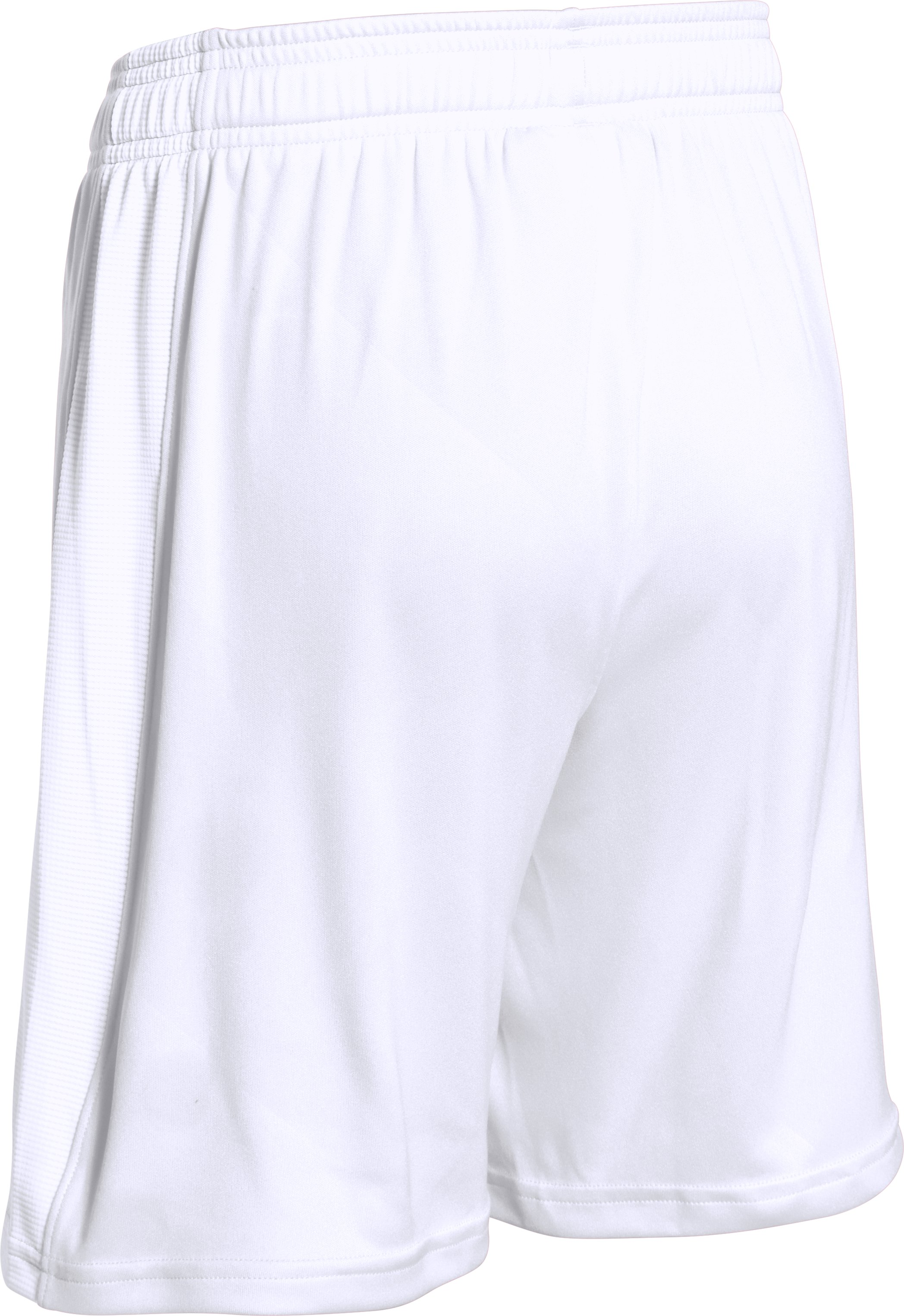 Boys' UA Re-Fixture Soccer Shorts, White, undefined