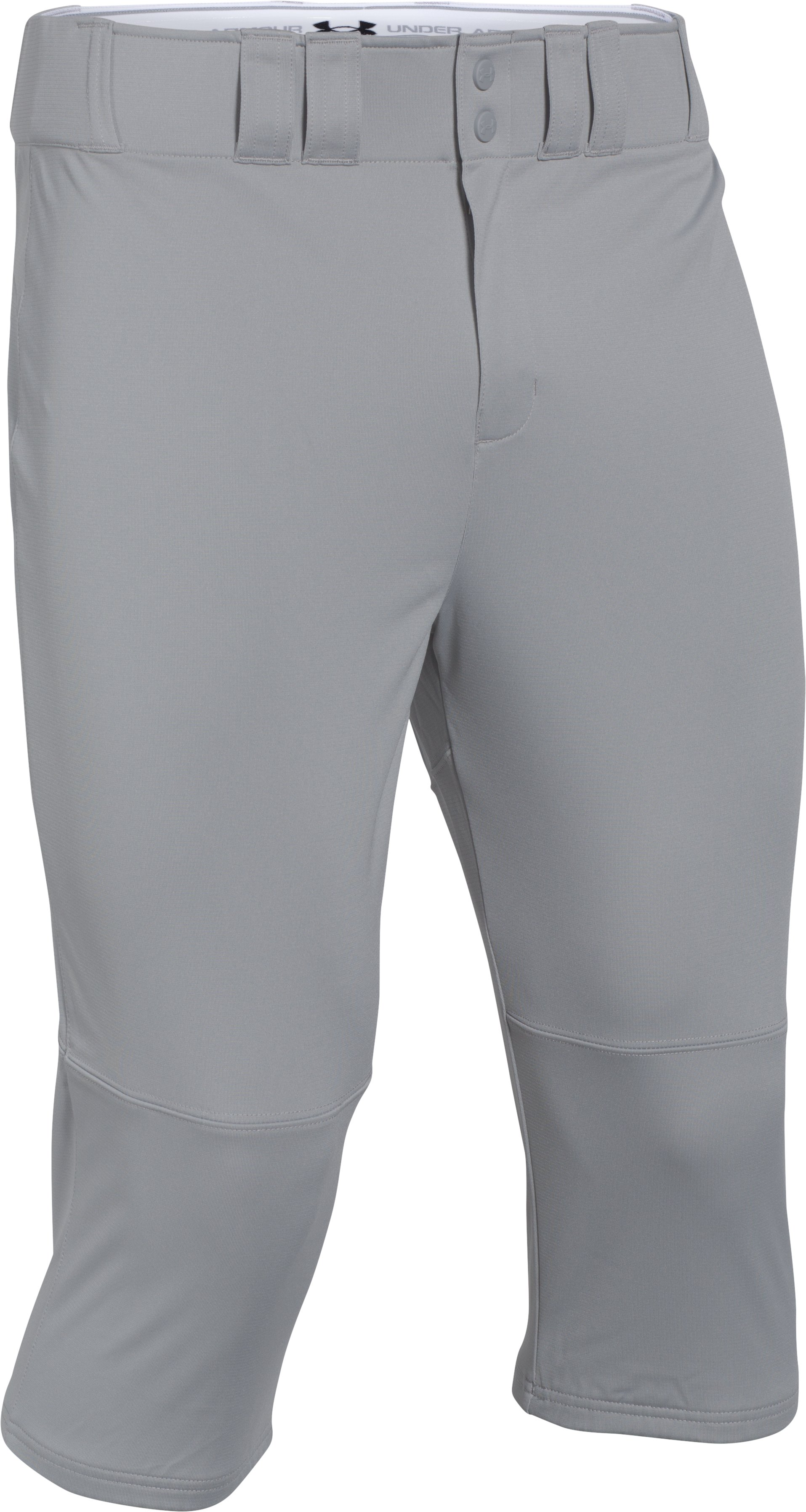 Men's UA Leadoff Baseball Knicker Pants, Baseball Gray