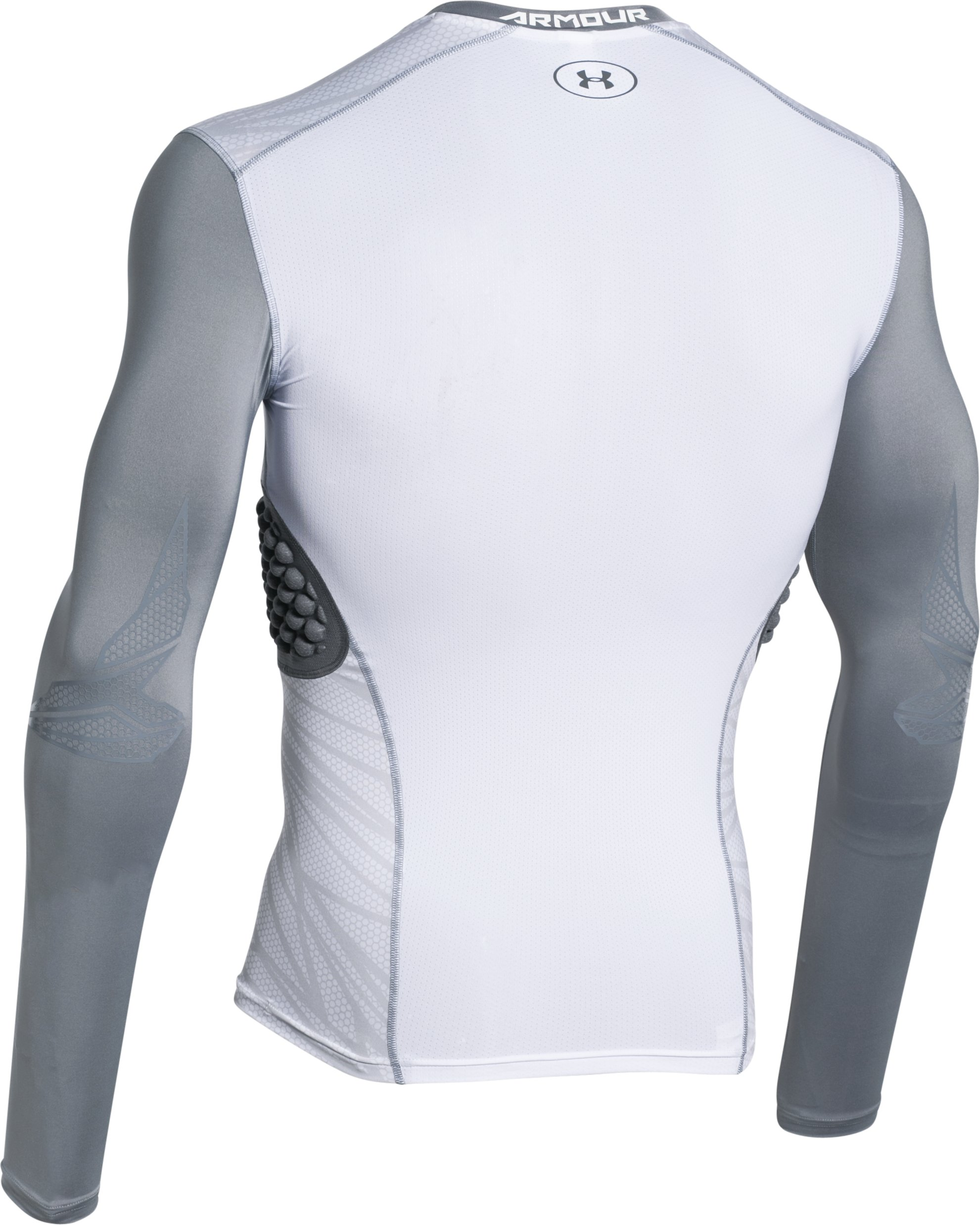 Men's UA Baseball Pinnacle Long Sleeve, White,