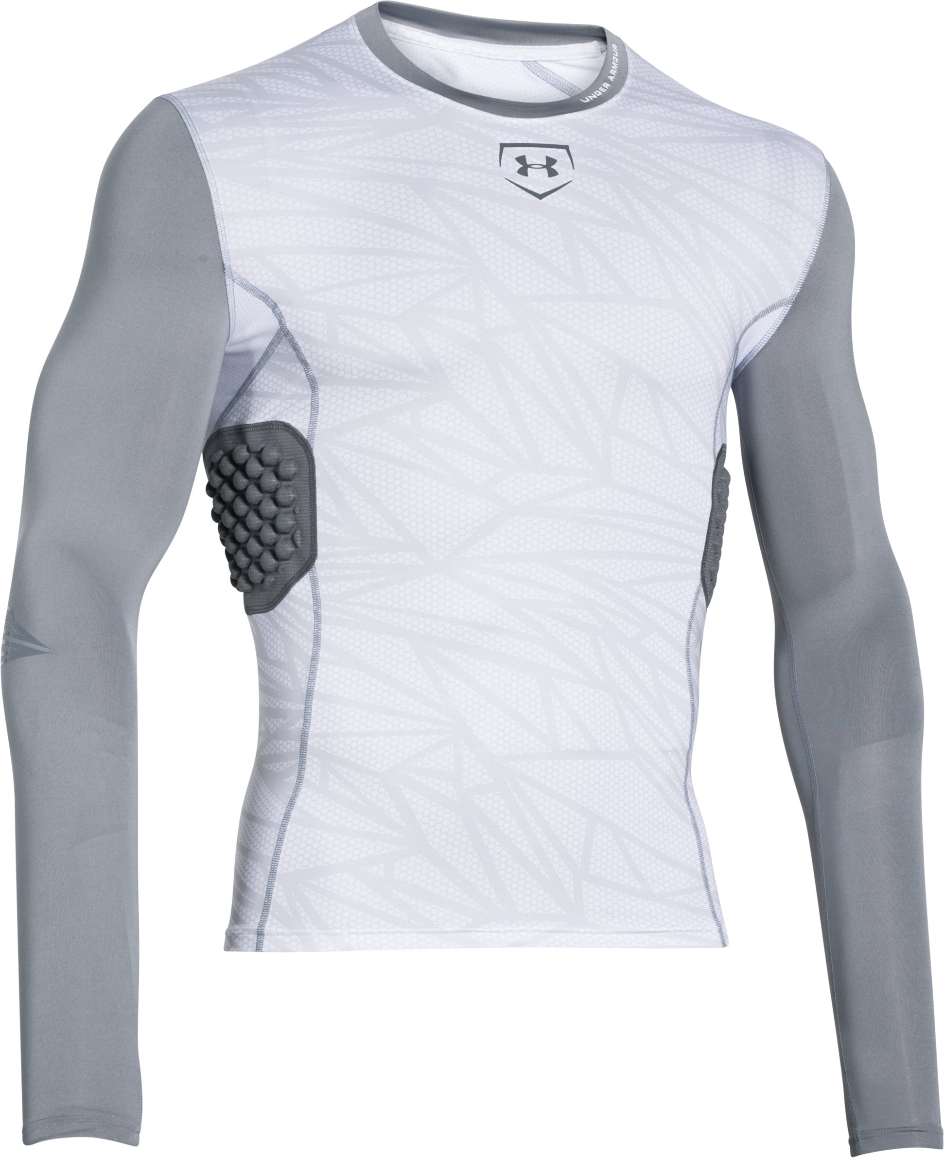 Men's UA Baseball Pinnacle Long Sleeve, White