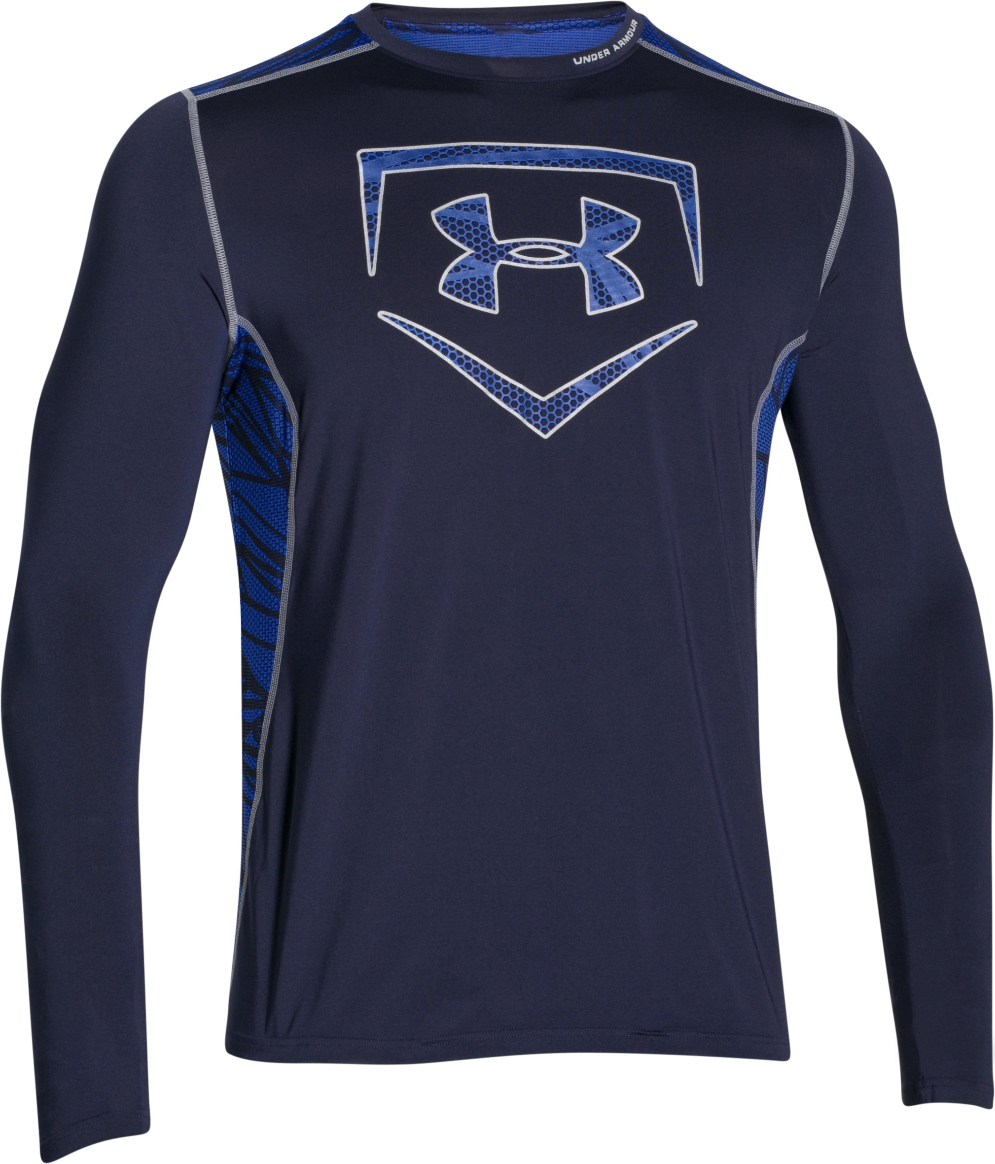 Men's UA Raid Baseball Long Sleeve Shirt, Midnight Navy,
