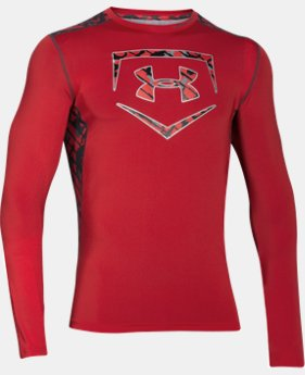 New Arrival Men's UA Raid Baseball Long Sleeve Shirt LIMITED TIME: FREE SHIPPING 6 Colors $44.99
