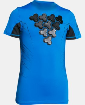 Boys' UA Gameday Armour® Chest Short Sleeve Shirt