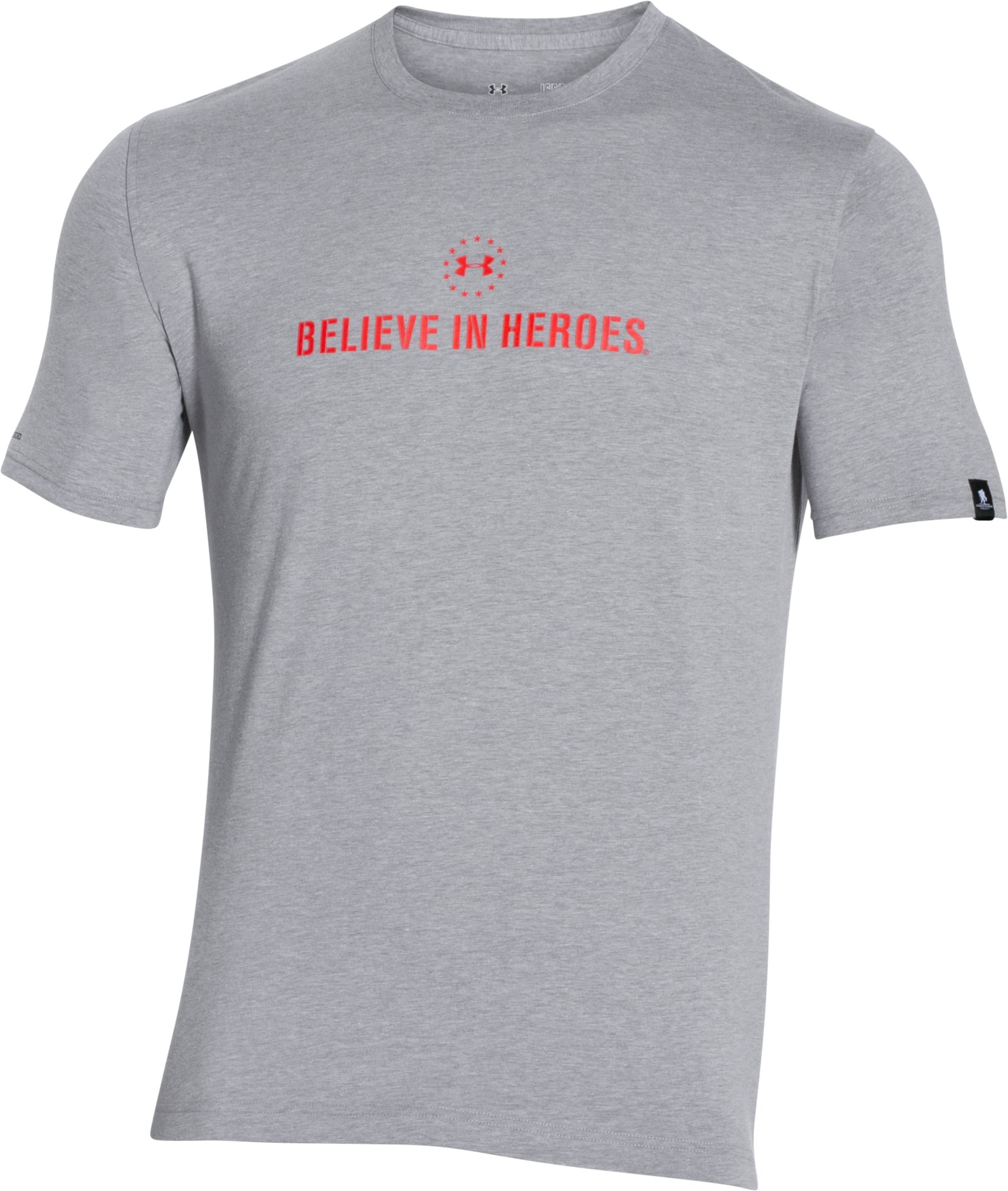 Men's WWP Logo T-Shirt, True Gray Heather,