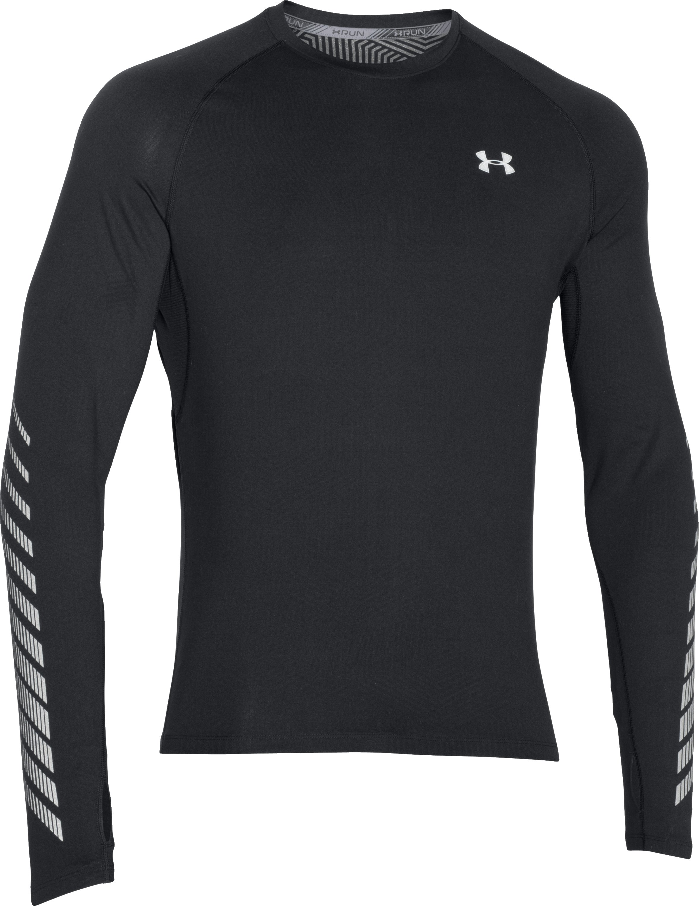 Men's UA ColdGear® Infrared Run Long Sleeve, Black , undefined