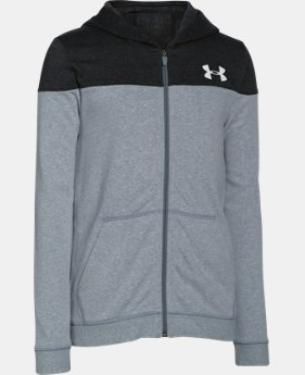 Boys' UA Surge Fleece Full Zip Hoodie   $32.99