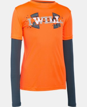 Boys' UA Armour Up 2-In-1 Long Sleeve  1 Color $20.99