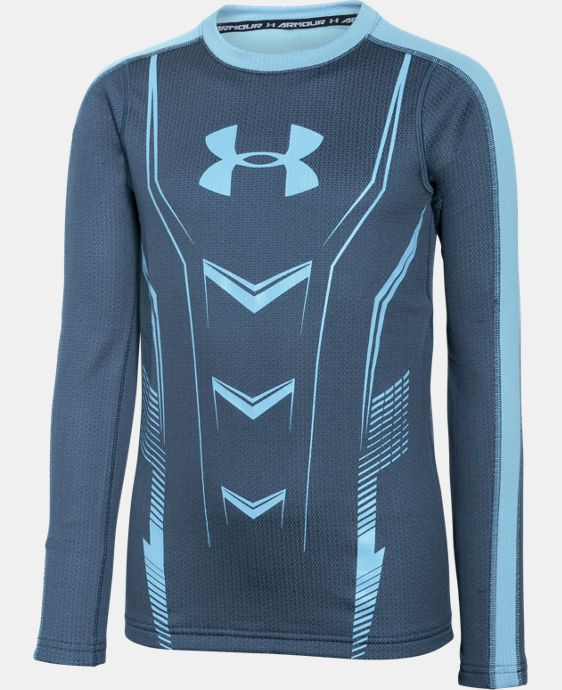 Boys' UA Lightweight ColdGear® Armour Up Fitted Crew  1 Color $28.49 to $37.99