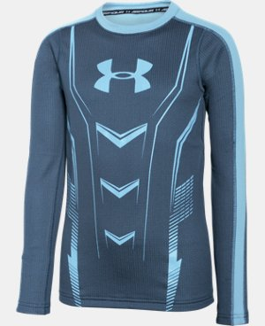 Boys' UA Lightweight ColdGear® Armour Up Fitted Crew LIMITED TIME: FREE U.S. SHIPPING 1 Color $37.99