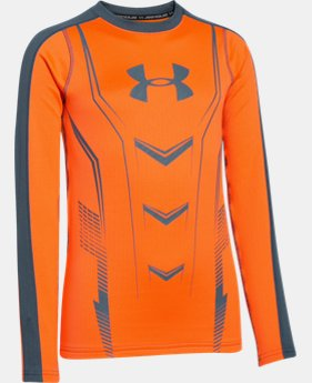 Boys' UA Lightweight ColdGear® Armour Up Fitted Crew