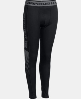 Boys' UA Lightweight ColdGear® Armour Up Fitted Leggings  2 Colors $37.99