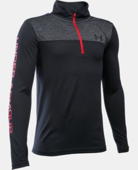 Boys' UA Tech™ ¼ Zip LIMITED TIME: FREE SHIPPING 3 Colors $29.99 to $39.99