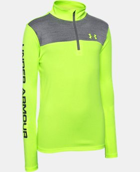 Boys' UA Tech™ ¼ Zip LIMITED TIME: FREE U.S. SHIPPING 2 Colors $26.24