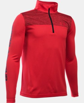 Best Seller Boys' UA Tech™ ¼ Zip LIMITED TIME: FREE SHIPPING 1 Color $34.99