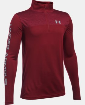 New Arrival  Boys' UA Tech™ ¼ Zip LIMITED TIME: FREE SHIPPING 1 Color $39.99