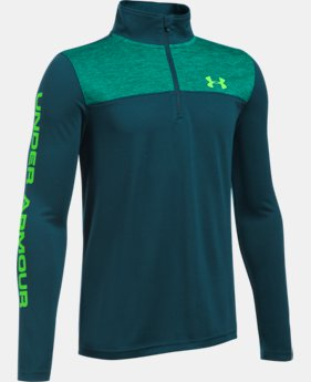 Boys' UA Tech™ ¼ Zip LIMITED TIME: FREE SHIPPING 6 Colors $26.99 to $39.99